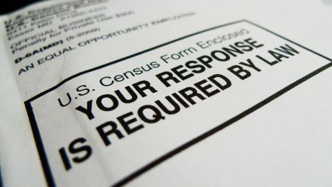 The official US Census form,  pictured on March 18, 2010 in Washington, DC, is required to be filled out and returned to the US Government by April 1, 2010.   The all-important US tally determines everything from the number of seats a district is entitled in the US Congress, to the amount of dollars jurisdictions are given for federal projects. The first census was taken in 1790, when the population of the country was less than the current population of Los Angeles -- around four million.  AFP PHOTO / Paul J. RICHARDS (Photo credit should read PAUL J. RICHARDS/AFP/Getty Images)