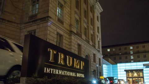 TRUMP HOTEL, WASHINGTON DC, UNITED STATES - 2018/03/03: The Trump Hotel at the Washington's historic Old Post Office building. (Photo by Dimitrios Manis/SOPA Images/LightRocket via Getty Images)