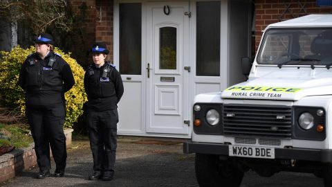 Police believe the Skripals first came into contact with the nerve agent at Sergei Skripal's home in Salisbury, pictured on March 6.