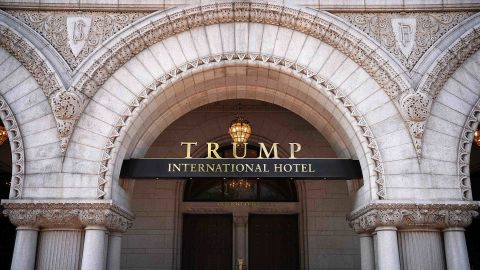 The Trump International Hotel is shown on August 10, 2017 in Washington, DC. =