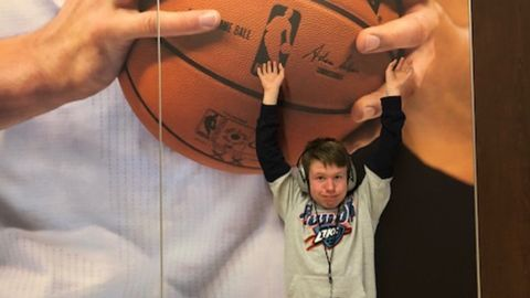 Sixteen-year-old Harrison Howell, a big Russell Westbrook and Oklahoma City Thunder fan, loves being able to attend games.