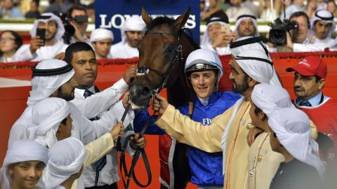 It was a seventh win in the race for the Godolphin stable and a sixth for trainer Saeed Bin Suroor.
