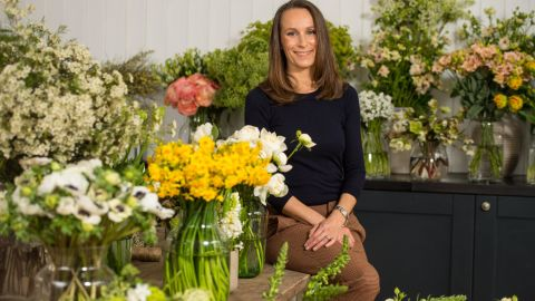 Florist Philippa Craddock owns a flower shop at Selfridges Department Store in central London.