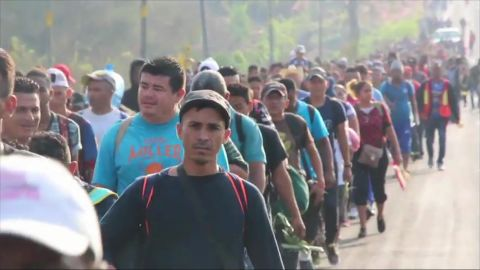 """A group of Central Americans crossed into Mexico in March as part of a migrant """"caravan"""" heading to the United States border."""