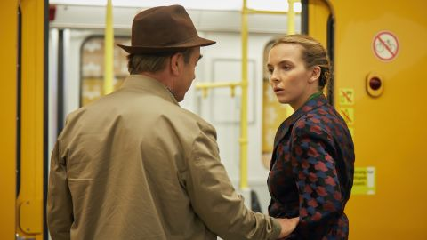 Jodie Comer (right) in 'Killing Eve'