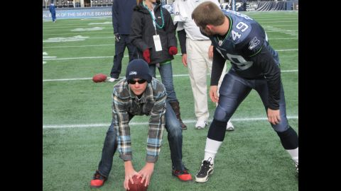 Blindness didn't stop Jake from playing the game he loved.