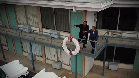 On April 4, 1968, Dr. Martin Luther King, Jr. was assassinated while standing on the balcony of the Lorraine Motel in Memphis. In a CNN Exclusive, two men who were with King when he was killed, Reverend Jesse Jackson and former Ambassador Andrew Young, return to that balcony, the first time they have tighter since 1968,  to remember their friend 50 years later and to share little-known details of the moment King was killed.  Victor Blackwell reports.