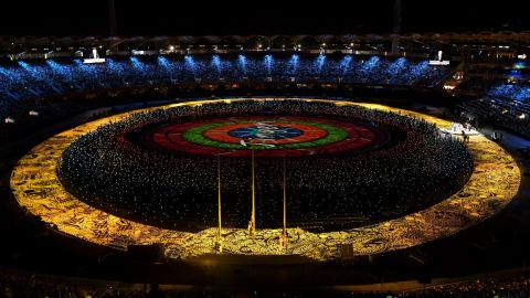 It's showtime!The opening ceremony of the 2018 Gold Coast Commonwealth Games at the Carrara Stadium on the Gold Coast on April 4, 2018 gets underway.
