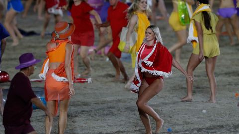 Performers and dancers during the opening ceremony of the Commonwealth Games.