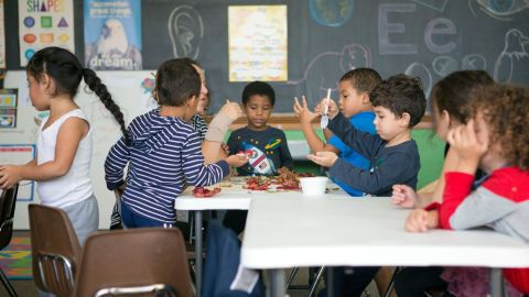 Preschoolers attend class at the Hazleton Integration Project in October 2016.