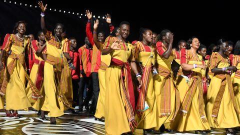 Members of the Uganda delegation.