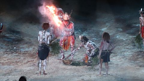 Luther Cora, a contemporary Aboriginal artist, and his family also conducted a traditional smoking ceremony.