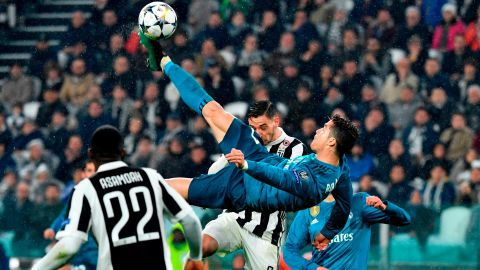 Cristiano Ronaldo seemed to hang in the air for an eternity.