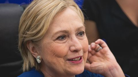 AUSTIN, TX - NOVEMBER 17:  Former U.S. Secretary of State Hillary Rodham Clinton signs copies of her new book 'What Happened' at BookPeople on November 17, 2017 in Austin, Texas.  (Photo by Rick Kern/WireImage)