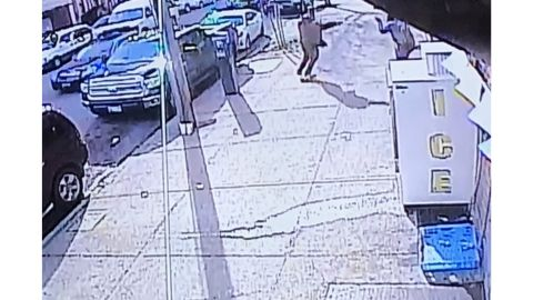 Police said images from a surveilance camera show the man pointing at officers with an object.