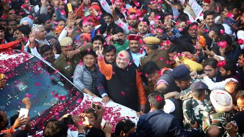 BJP President Amit Shah in New Delhi, prior to the Gujarat elections. (AP Photo)