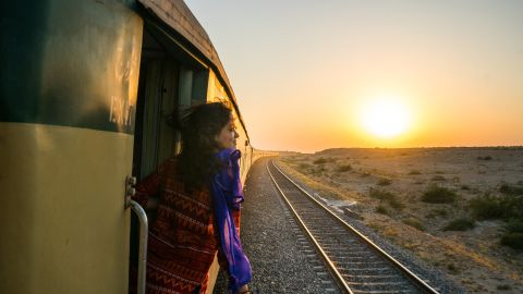 <strong>Sindh to Karachi by rail: </strong>Traveling with a friend, Reynolds spent two six-week stints -- in 2016 and 2017 -- traveling across Pakistan.