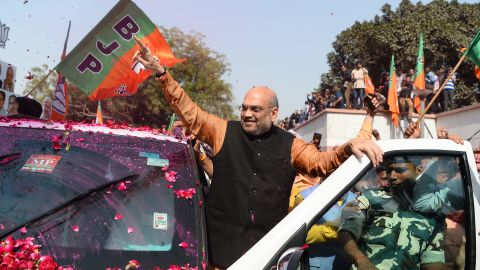 Amit Shah, president of the Bharatiya Janata Party (BJP), in the Indian capital New Delhi on March 3, 2018. (Sajjad Hussain/AFP/Getty Images)