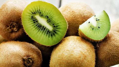 Lovely green kiwis were mostly pesticide free when tested: Sixty-five percent of all samples showed no chemicals, while only six pesticides could be found on any of the samples.