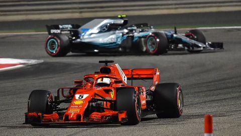 Vettel -- 50 points<br />Hamilton -- 33 points<br />Bottas -- 22 points