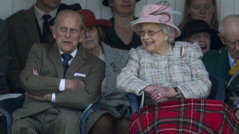 Queen Elizabeth II and Prince Philip attend the 2017 Braemar Highland Gathering in Braemar, Scotland.