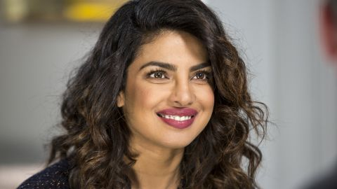 """Priyanka Chopra is pictured on TV show """"Sunday Today with Willie Geist"""" in February."""