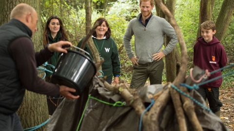 Prince Harry took part in a Wilderness Foundation initiative near Chelmsford, northeast of London, in September last year.