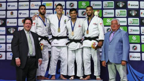 """Another lightweight judoka, Turner (R), got involved in the sport through an after-school program because his mother thought it would keep him out of trouble. """"It's given me discipline and a chance to travel the world,"""" the American, a bronze medalist in the 2017 Cancun Grand Prix told CNN. """"If your life is going down the wrong path, judo is definitely something you should give a try. It's the best way to channel your energy and find yourself."""""""
