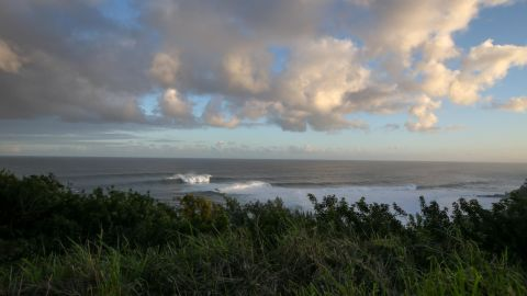 """Calm before the storm ... """"Jaws"""" can sometimes look tranquil away from the giant swell."""