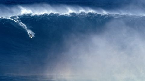 Fifty-foot waves are commonplace at the break, located in the surfer's haven of Pe'ahi off the north shore of Maui.