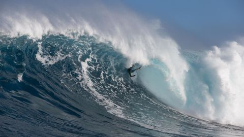 """Though while the swell can prove challenging for even the best -- here Hawaii's Albee Layer is wiped out -- windsurfing legend Robby Naish told CNN it was """"like a walk in the park."""""""