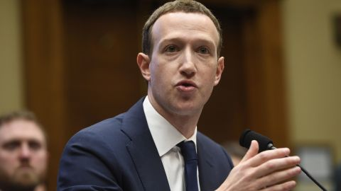 Facebook CEO and founder Mark Zuckerberg testifies during a US House Committee on Energy and Commerce hearing about Facebook on Capitol Hill in Washington, DC, April 11, 2018. / AFP PHOTO / SAUL LOEB        (Photo credit should read SAUL LOEB/AFP/Getty Images)