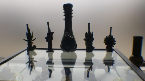 """Bongs for sale at the dispensary """"are a little fancier than what we used in the '60s,"""" one man said."""