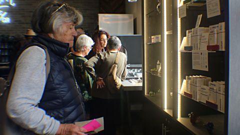 Christy Diller browses at the medical marijuana shop.