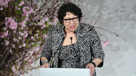 NEW YORK, NY - APRIL 13: Justice Sonia Sotomayor attends The 2018 DVF Awards at United Nations on April 13, 2018 in New York City.  (Dimitrios Kambouris/Getty Images)