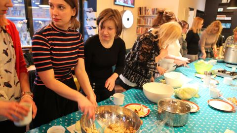 A Jewish cooking class, making vegan matzah ball soup, is part of the Warsaw Jewish Community Center's dynamic programming for all generations. The JCC, opened in 2013, is a project of the American Jewish Joint Distribution Committee (JDC).
