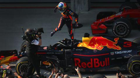 Vettel -- 54 points<br />Hamilton -- 45 points<br />Bottas -- 40 points