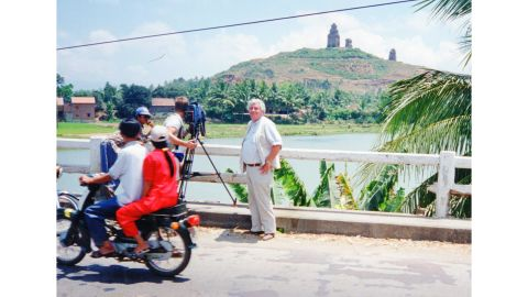 Richard Blystone in Vietnam in 1995, covering the 20th anniversary of the fall of Saigon.