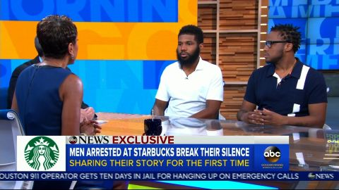 men arrested starbucks gma interview
