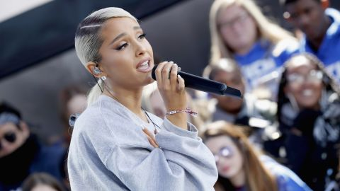 Ariana Grande performs onstage at March for Our Lives on March 24, 2018 in Washington, DC.