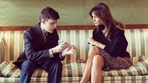 Kyle Kashuv meets with first lady Melania Trump in March 2018.