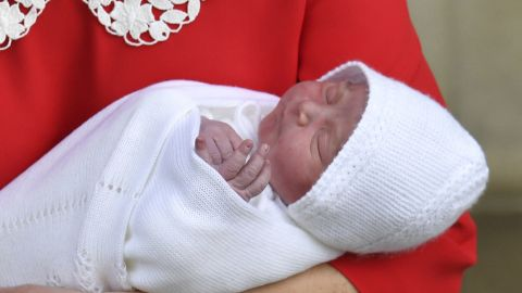 Britain's Prince William and Catherine, Duchess of Cambridge, with their newborn baby son .