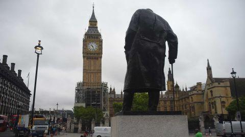 Winston Churchill's statue in Parliament Square, London