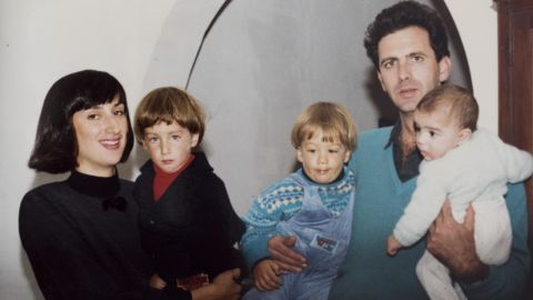 Daphne Caruana Galizia with her husband, Peter, and sons Matthew, Andrew and Paul.