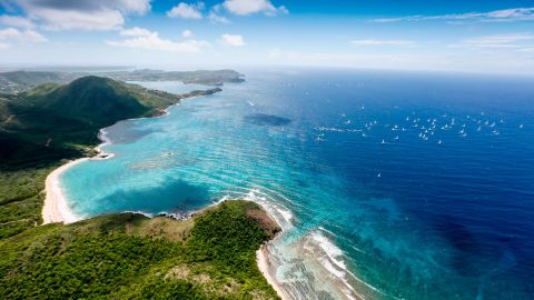 Antigua, in the central Caribbean, is blessed with warm trade winds and stunning scenery.