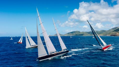 Boats come from as far afield as the UK, Germany and France to attend Antigua Sailing Week at the end of April.
