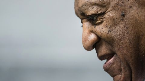 Bill Cosby departs after a pretrial hearing in his sexual assault case at the Montgomery County Courthouse in Norristown, Pa., Tuesday, Aug. 22, 2017. Cosby's retrial will be delayed as his new legal team gets up to speed on the case. (AP Photo/Matt Rourke)