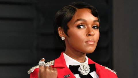 Janelle Monae attends the 2018 Vanity Fair Oscar Party hosted by Radhika Jones at Wallis Annenberg Center for the Performing Arts on March 4, 2018 in Beverly Hills, California.  (Photo by Dia Dipasupil/Getty Images)