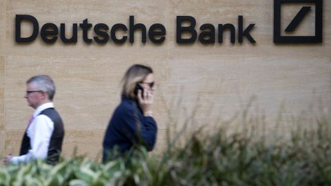 A view of the headquarters of German bank Deutsche Bank in London on May 5, 2017. / AFP PHOTO / Justin TALLIS        (Photo credit should read JUSTIN TALLIS/AFP/Getty Images)