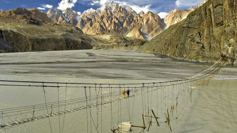<strong>Hunza Bridge:</strong> Pakistan was named the top adventure travel destination for 2018 by the British Backpacker Society.